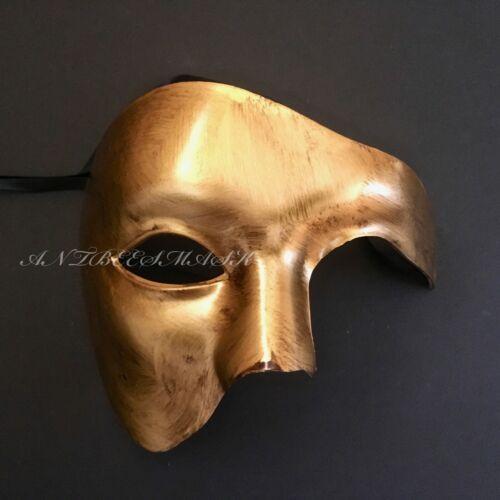 Venetian Gold Phantasma Phantom of the Opera Half Face Masquerade Mask