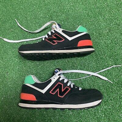New Balance 574 Fashion Running Shoe black/ green/red women's 8 B   eBay