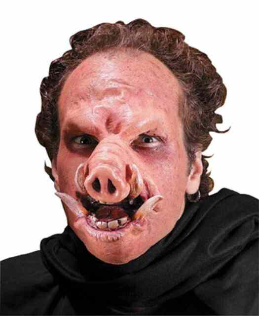 snort pig saw animal scary fancy dress halloween costume makeup latex prosthetic
