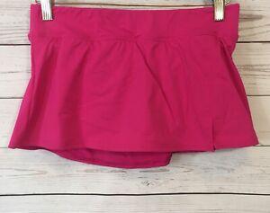6613dcb3eb Image is loading Lands-End-Womens-Swimsuit-Botttoms-Skirt-Skort-Pink-