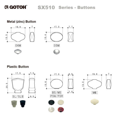 GOTOH SXN510V-06M Electric//Acoustic Guitar Premium Tuners 3x3 NICKEL NEW