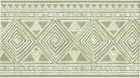 Greenish Gray Diamond Southwest Southerwestern Geometric Lines Wallpaper Border