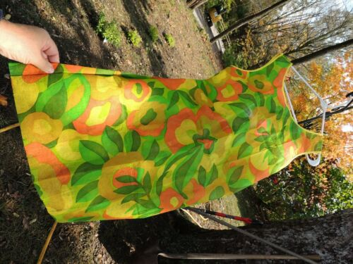 Vintage 1960's Flower abstract  Paper Dress