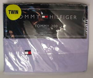 Tommy-200-Tommy-Hilfiger-Twin-Size-Cotton-Flat-Bed-Sheet-HYDRANGEA-NEW-NWT