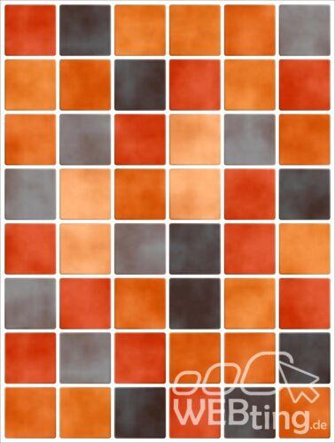 15x20cm Orange Fliesenaufkleber  Fliesen Aufkleber Fliesenimitat Mosaik M5