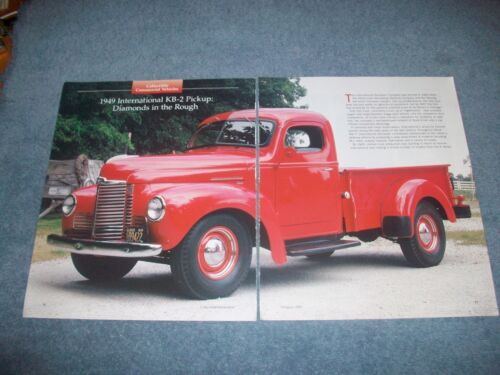1949 International KB2 Pickup Truck Info Article 'Diamonds in the Rough""