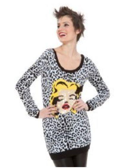 Betsey Johnson  Cheetah Betsey Babe De Punto Túnica Vestido Jersey con lentejuelas Wink Marilyn  tomamos a los clientes como nuestro dios