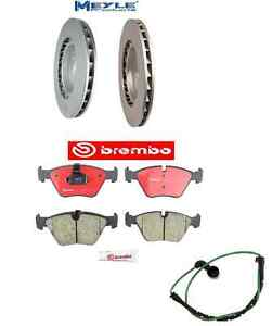 For BMW E46 M3 01-06 Brake Kit Two Front+Two Rear Brake Rotors Meyle