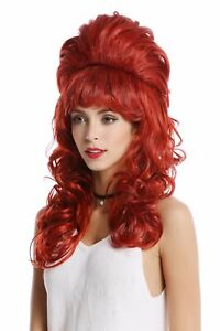 Details About Wig Ladies Wig Baroque 60er Beehive High Socket Hairstyle Bun Curly Pony Red Show Original Title