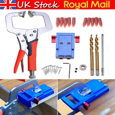Pocket Hole Jig Step Drill Bit Woodworking Carpentry Joint Kreg Joinery Tool UK