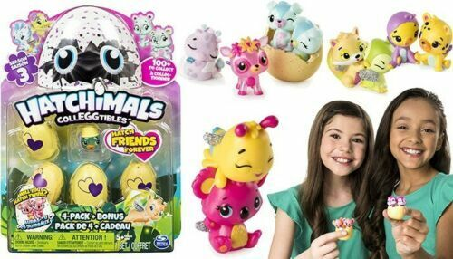 SURPRISE Œufs surprise Kids Toys Hatchimals colleggtibles Series 3 Random Pack 4