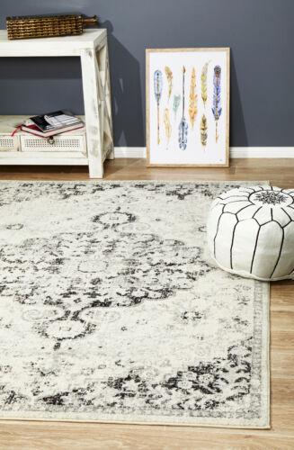 ELIZA MUS860 GREY BLACK Modern Rug Large Floor Mat Carpet  *FREE DELIVERY*