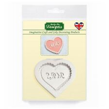 Cupcake Fondant Icing Embellishment Topper Mould: Mrs Heart Wedding/Valentines