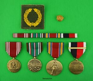 Army WWII European Medals, Ribbons, Meritorious Unit Award - Occupation Service