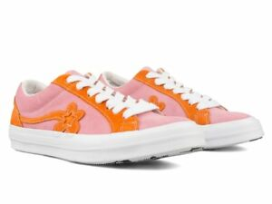 Details about Converse One Star The Uno Golf Le Fleur Tyler the Creator  Pink Orange Size 9.5