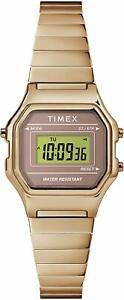 Timex-Classic-Digital-Rose-Gold-Stainless-Steel-Women-039-s-Mini-Watch-TW2T48100