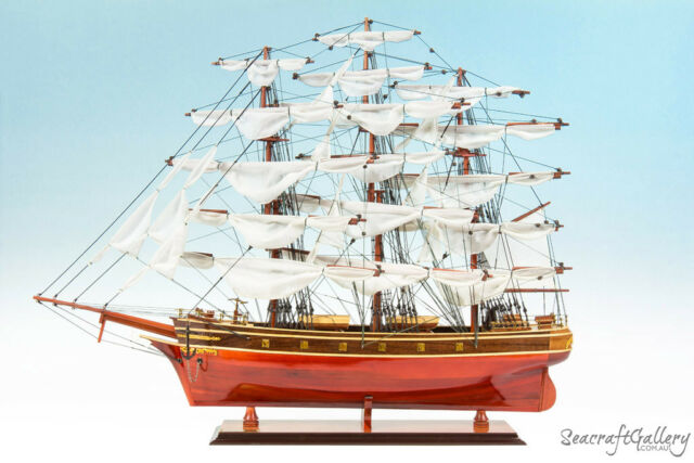 HANDCRAFTED WOODEN MODEL SHIP BOAT CUTTY SARK LIMITED GIFT DECORATION (85cm)