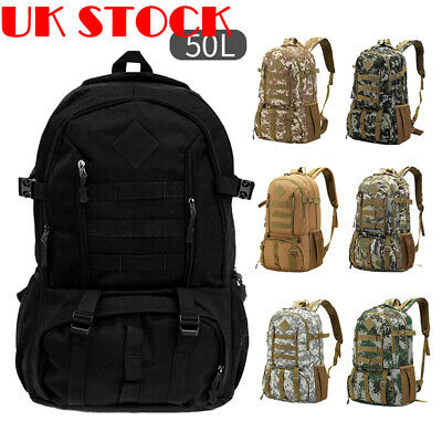 Military Tactical Army Backpack Rucksack Camping Hiking Trekk P4P2 Bag Outd F4P9