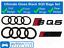 AUDI-SQ5-Brillo-Negro-Insignia-Rejilla-amp-Bota-Insignia-Emblema-Trasero-Conjunto-Anillos miniatura 1
