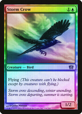 Storm Crow FOIL 8th Edition NM Blue Common MAGIC THE GATHERING CARD ABUGames