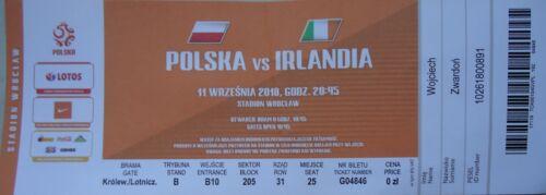 TICKET orange 11//9//2018 Poland Polska Polen vs Ireland Irland # Wroclaw