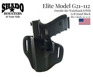 SHADO Leather Holster Elite Model G21-112 LH Black OWB Glock Brand 20 21 37