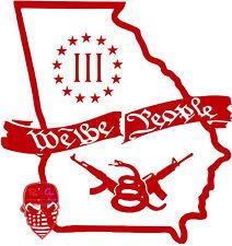 Georgia,3%,Threeper,GA,Molon Labe,2A,We The People,Dont Tread On Me,Vinyl Decal