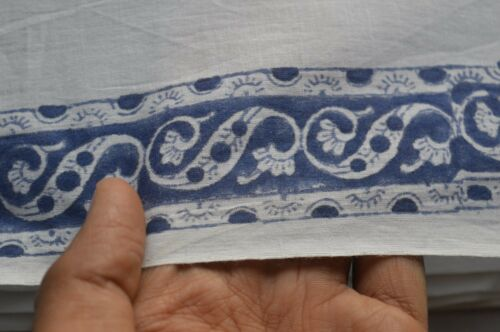 Fabric Indian 100/% Cotton Crafting New Print Floral Hand Block Fabric 5 Yard