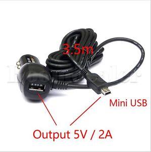 KFZ-Auto-Ladegeraet-Adapter-Mini-USB-Kabel-Fuer-Handy-Garmin-Navi-GPS-Mobile-MP3
