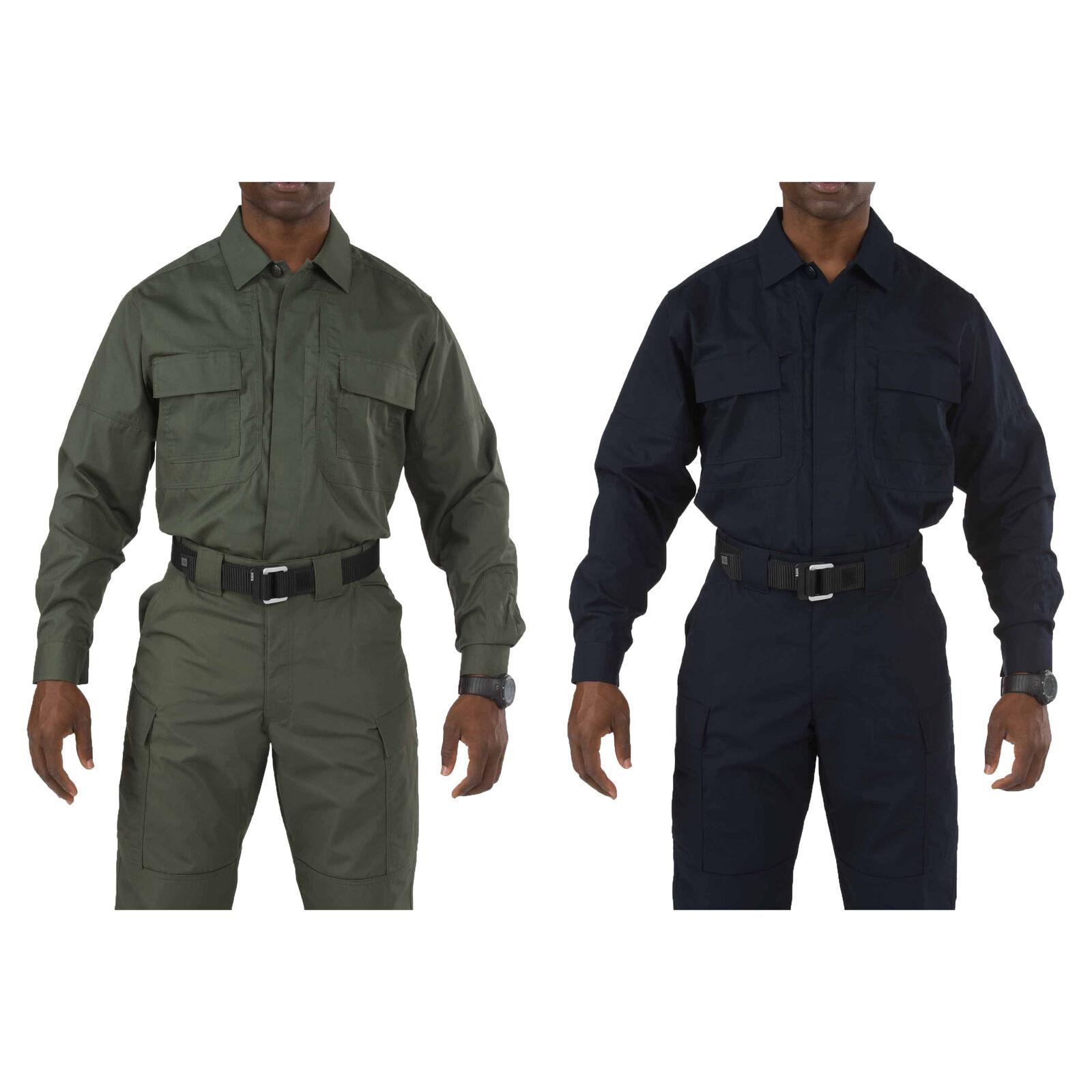 5.11 Tactical Taclite TDU Long-Sleeve Shirt, Style 72054T, Sizes S-5XL, Big&Tall