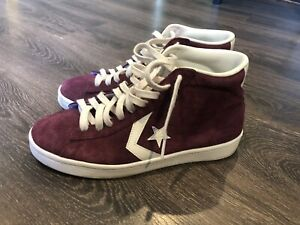 CONVERSE ONE STAR SUEDE HIGH TOP MAROON