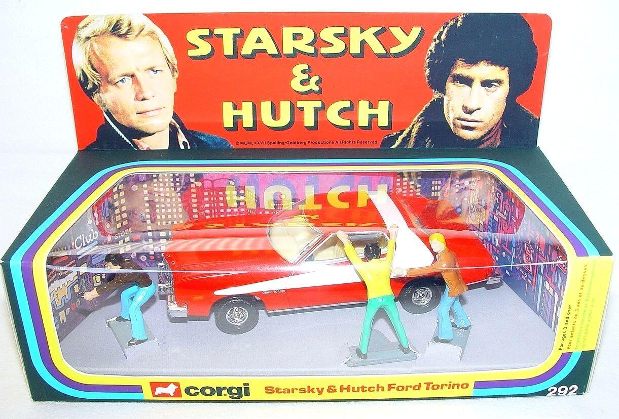 Corgi Toys 1 36 STARSKY & HUTCH FORD TORINO & 3 Figures + 1977 Repro Box MIB NEW