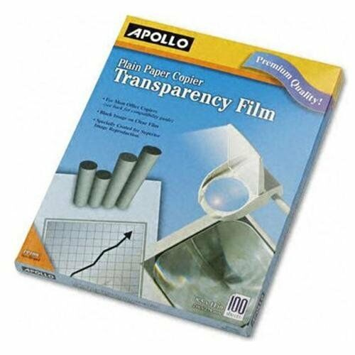 Apollo Transparency Film - Letter - 8.50  X 11  - 100   Box - Clear (PP100C)