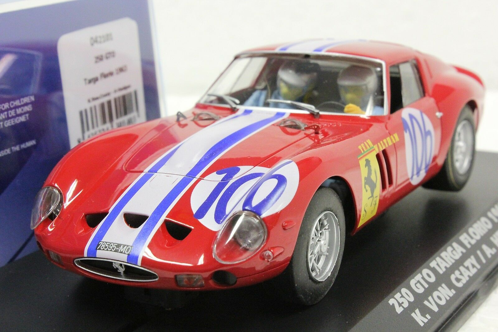 Fly 042101 Ferrari 250 Gto Targa Florio 1963 nuevo 1 32 Slot Coche en caso de exhibición