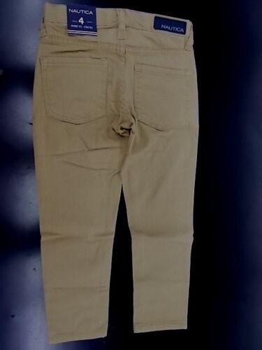 5 /& 6 Boys Nautica $36.50 Casual Carameliz Khaki Skinny Fit Pants Sizes 4