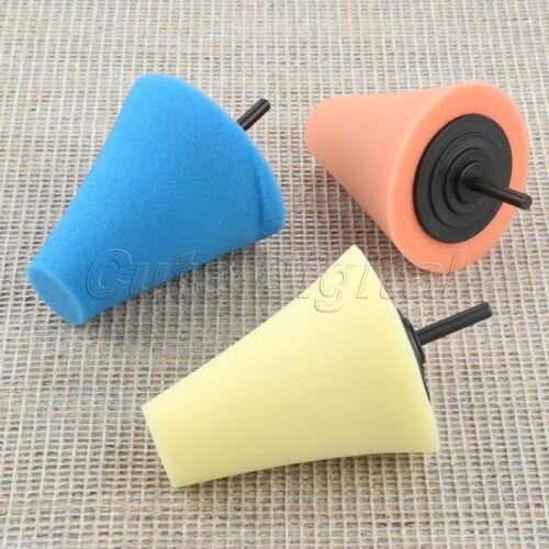 For Car Wheel Hub Burnishing Foam Sponge Polishing Buffing Pads Cone Shaped
