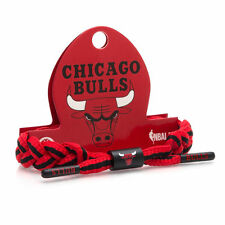 Rastaclat NBA Chicago Bulls Red Black Basketball Shoelace Bracelet RC001CHB