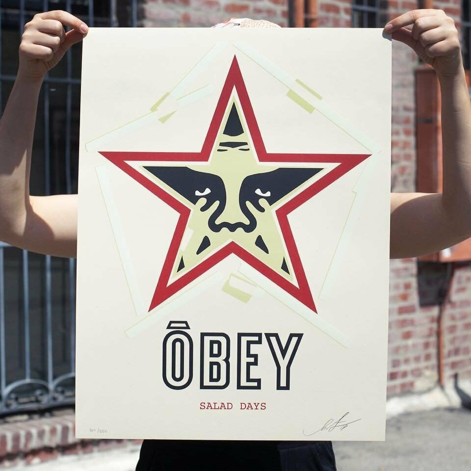SHEPARD FAIREY OBEY SALAD DAYS DATED DATED DATED SIGNED LIMITED EDITION   Bonne Conception Qualité  f366df