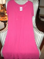 NWT FRESH PRODUCE SOLID FUSCIA  ISLAND SAVVY DRESS ... FLATTERING STYLE. (XL)