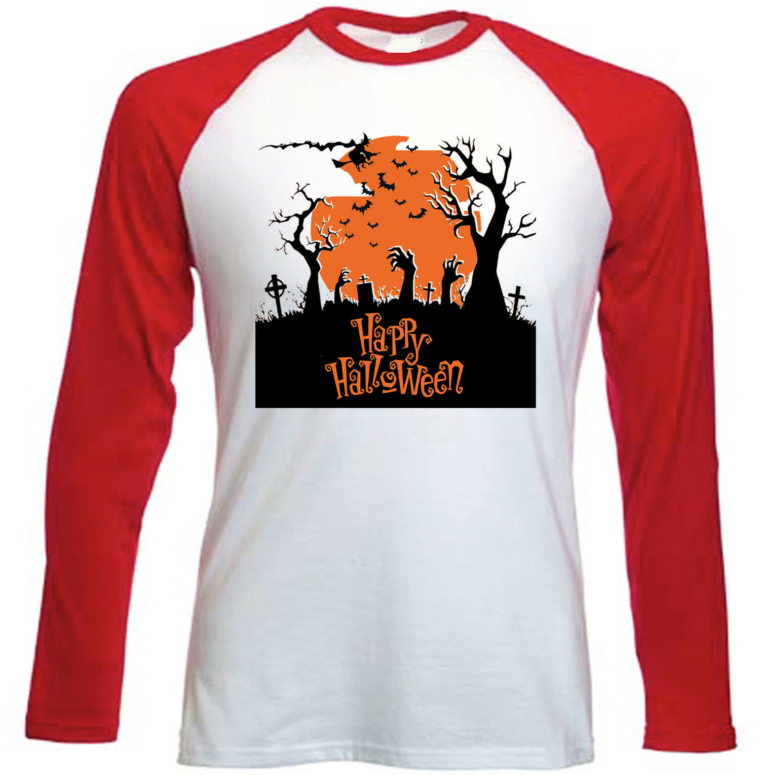 HALLOWEEN SCARY - NEW RED SLEEVED TSHIRT