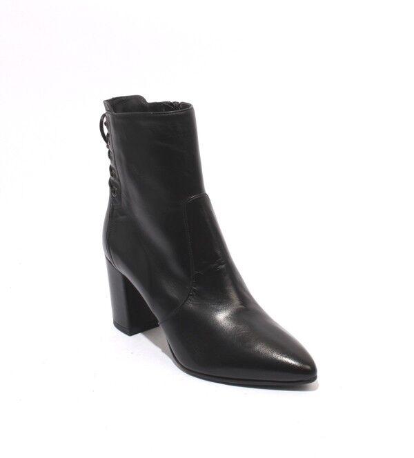 Isabelle 170 170 170 Cremallera Cuero Negro botas al tobillo con tacón Puntiagudo 39 US 9  mejor calidad