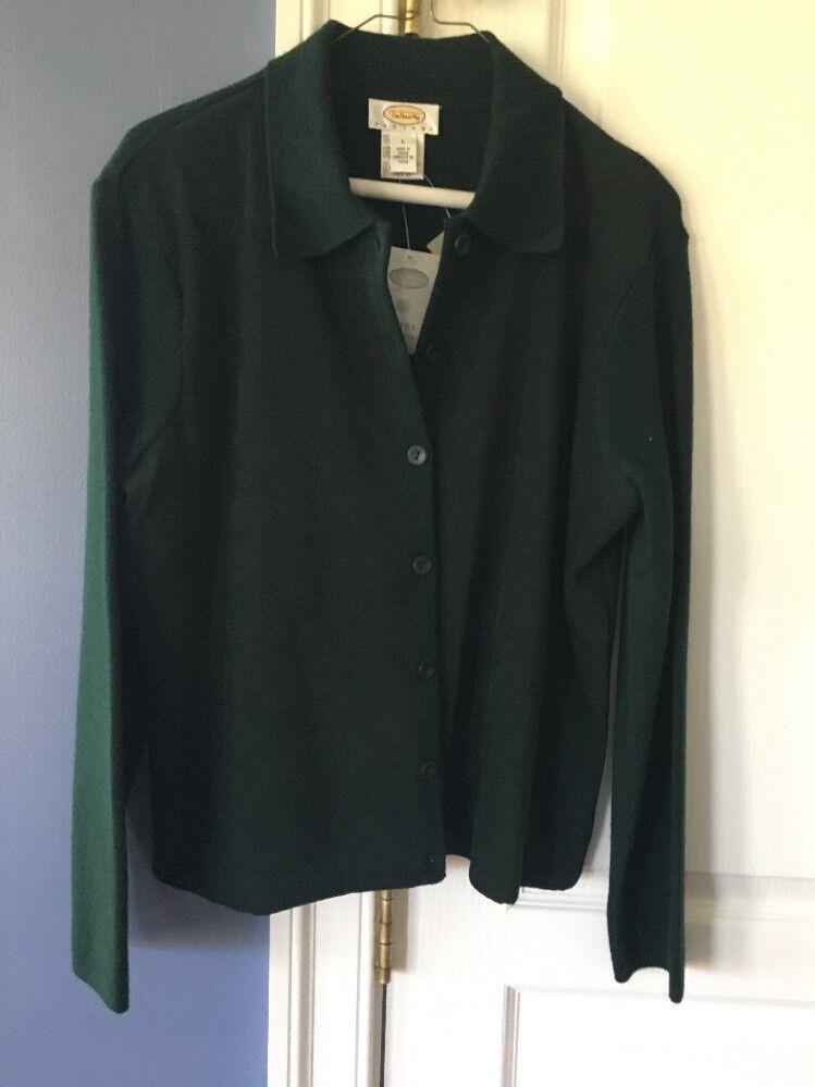 Women's Sweater Green Talbots NWT Petite Large