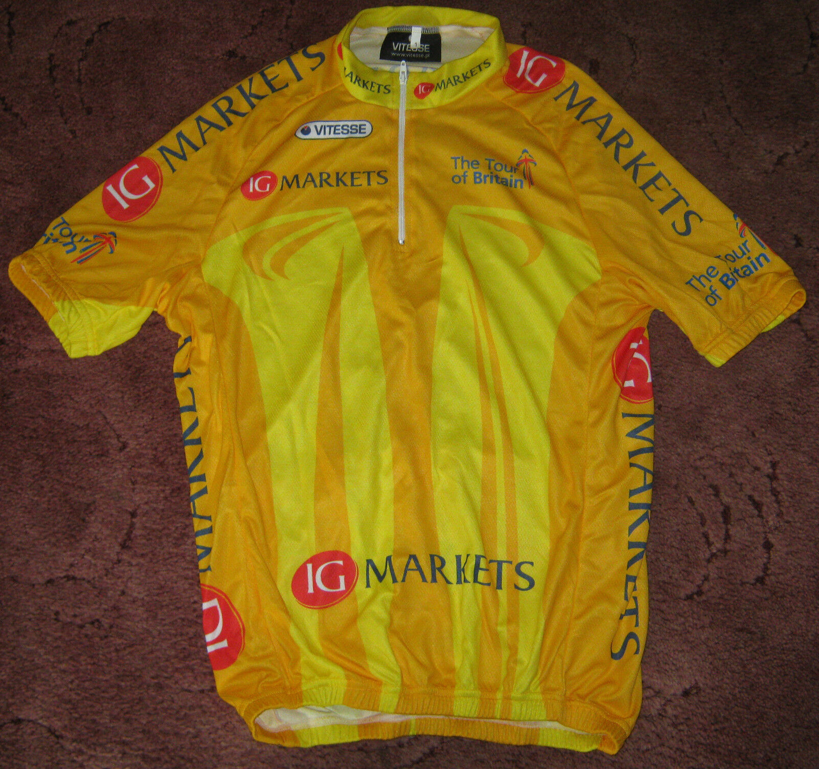 TOUR OF BRITAIN 2011 LEADERS VITESSE CYCLING JERSEY  [S] UNUSED  fashionable