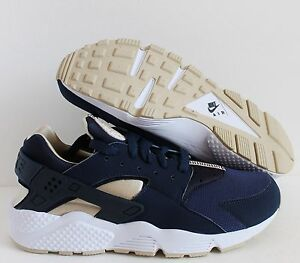pretty nice c0707 aa13b Image is loading NIKE-AIR-HUARACHE-MIDNIGHT-NAVY-RATTAN-OBSIDIAN-WHITE-