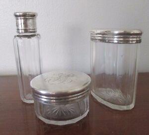 antique-GLASS-VANITY-SET-German-silver-hallmark-ED-ACKERMANN