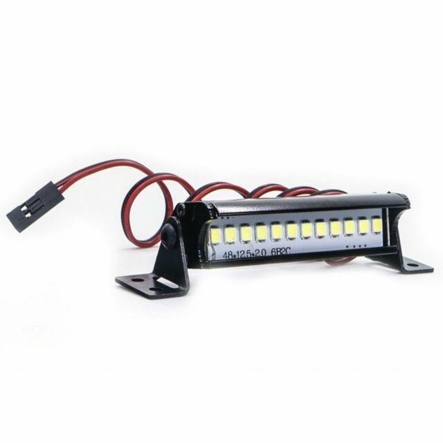 1x 1:10 RC 2//4 Leds Roof Lamp Light White for SCX10 D90 TRX4 Wraith Model Car