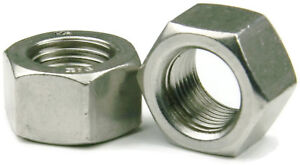 Qty 25 Stainless Steel Finished Hex Nut UNF 1//2-20