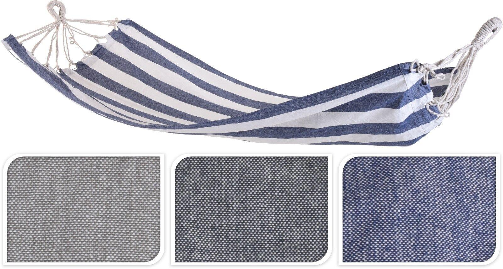 Hängematte 110 x 220 cm, Baumwolle gestreift - in 3 Farben erhältlich  | Sale Outlet