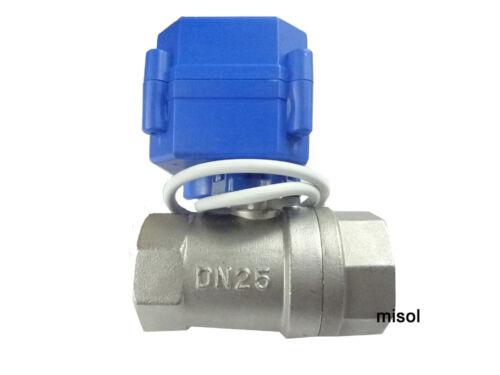 "motorized ball valve G1/"" DN25 2 way 12VDC CR04,Stainless steel misol"