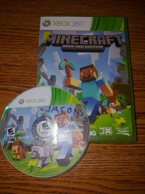 Minecraft Xbox 360 Edition No Manual *Tested* Free Shipping PLEASE READ